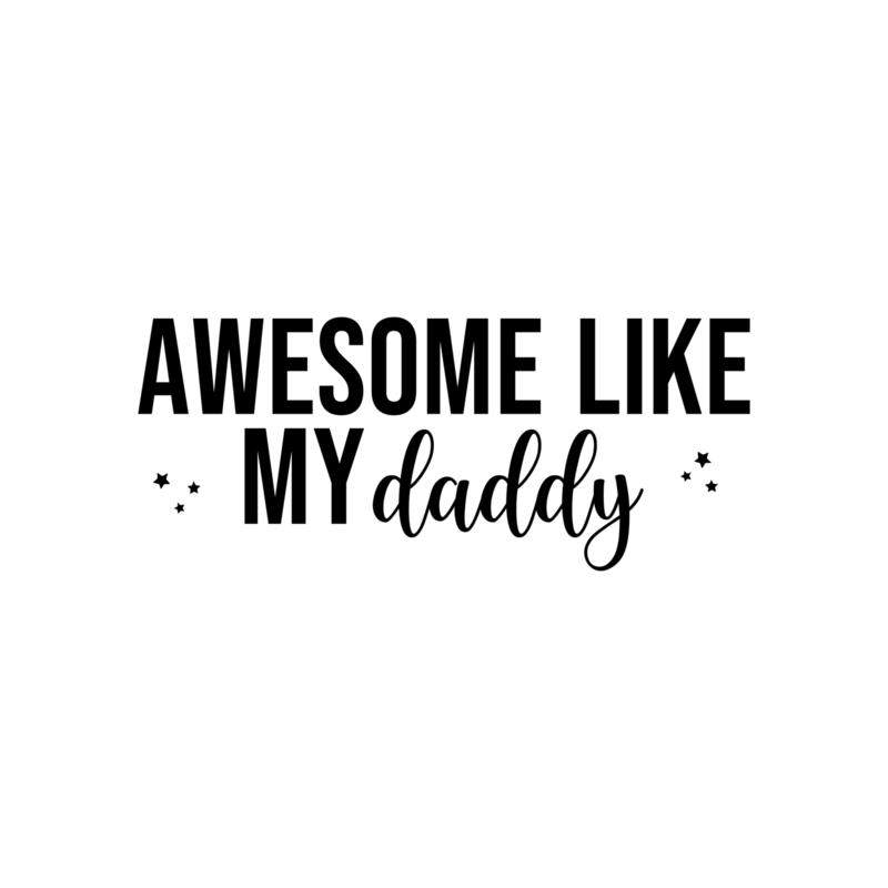 Awesome like my daddy - sterretjes | strijkapplicatie