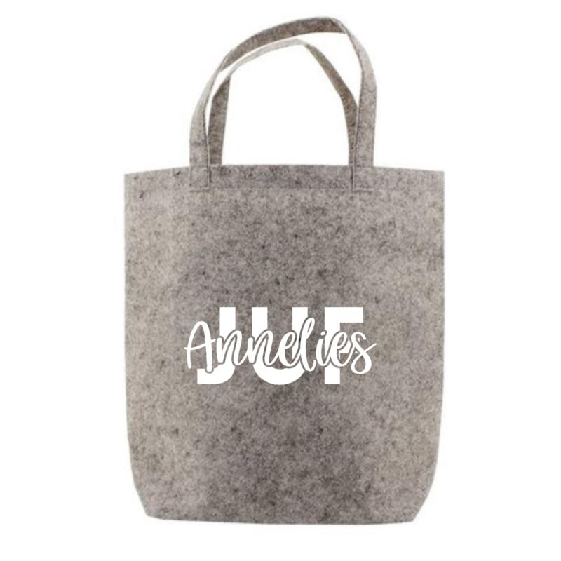 JUF + naam   tote bag