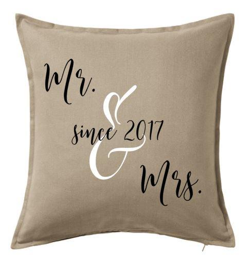 Mr. & Mrs. since ... | kussenhoes