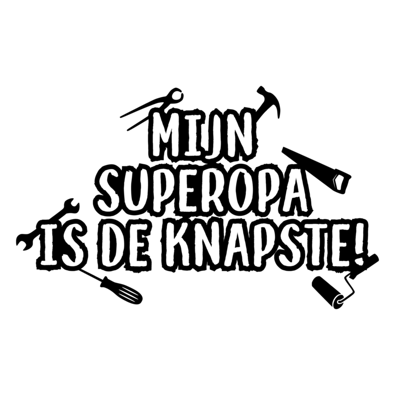 Knapste superopa | DIY-stickers vaderdag