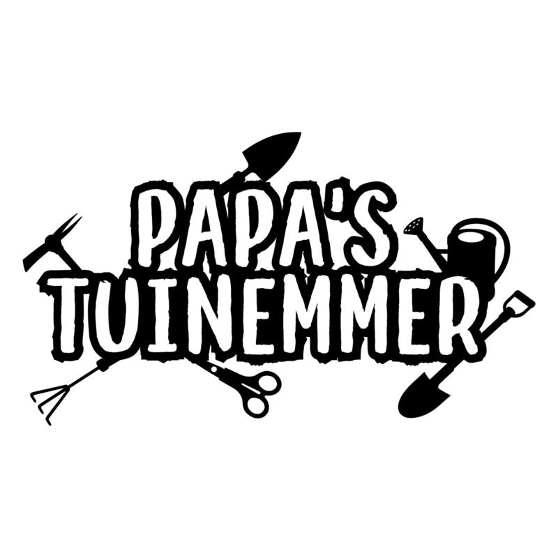 Papa's tuinemmer | DIY-stickers vaderdag