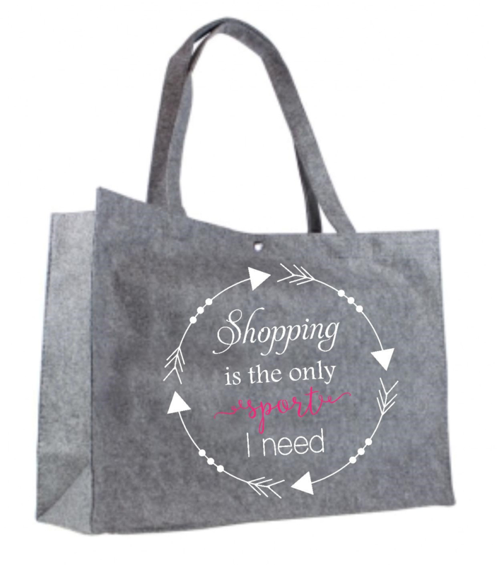 Shopping is the only sport I need | vilten tas