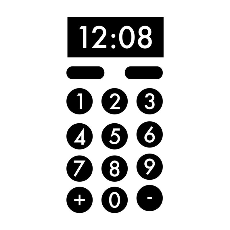 Magnetron knopjes - cijfers   keukensticker