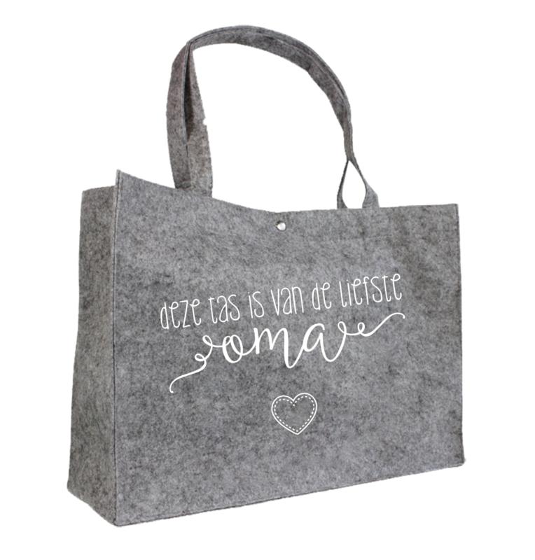 Deze tas is van de liefste oma | vilten tas
