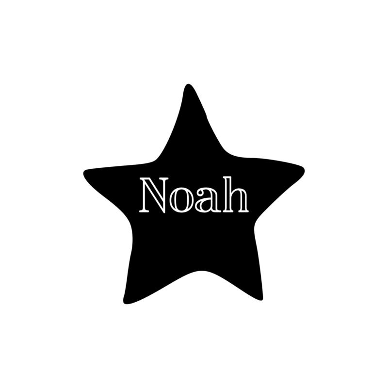 Naam - sterretje | strijkapplicatie