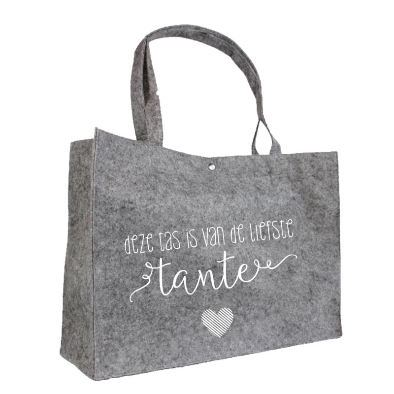 Deze tas is van de liefste tante | vilten tas