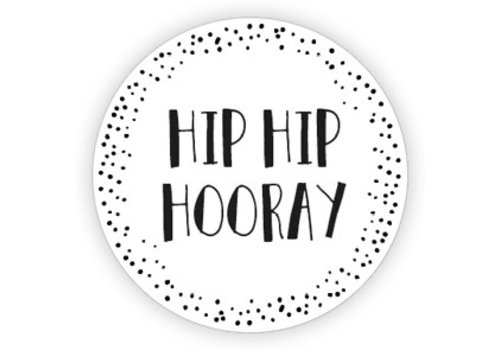 Hip hip hooray   sticker