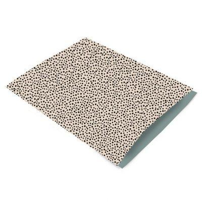 Inpakzakjes zwarte stippen/beige - 17 x 25 cm