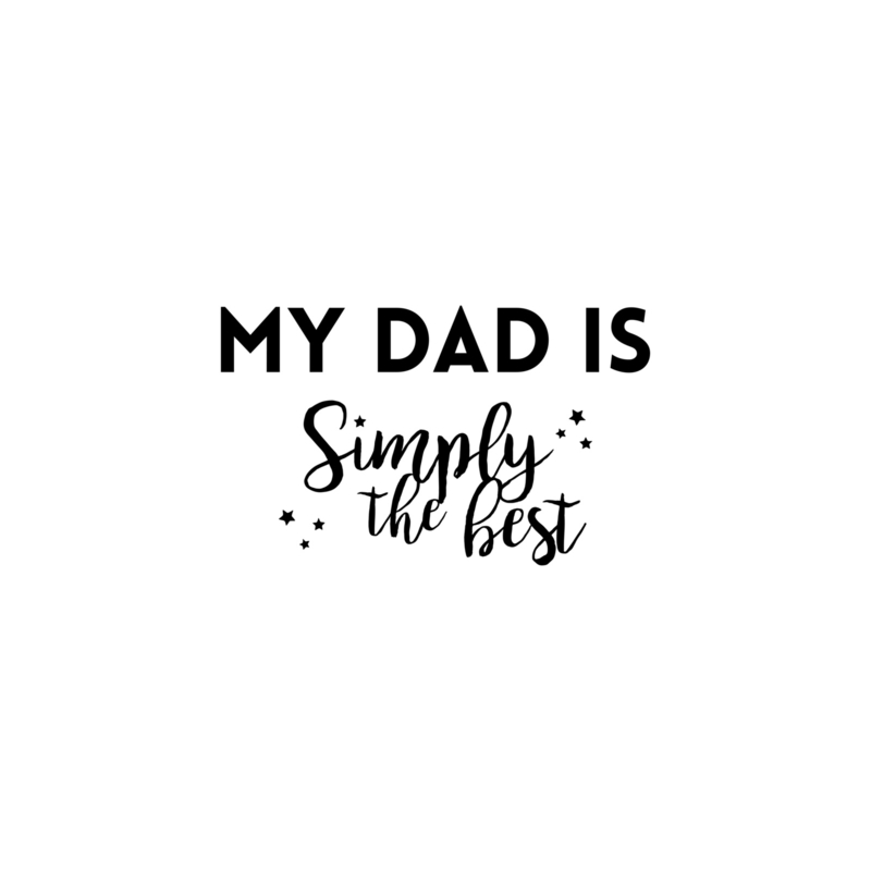 My dad is simply te best - sterretjes | strijkapplicatie