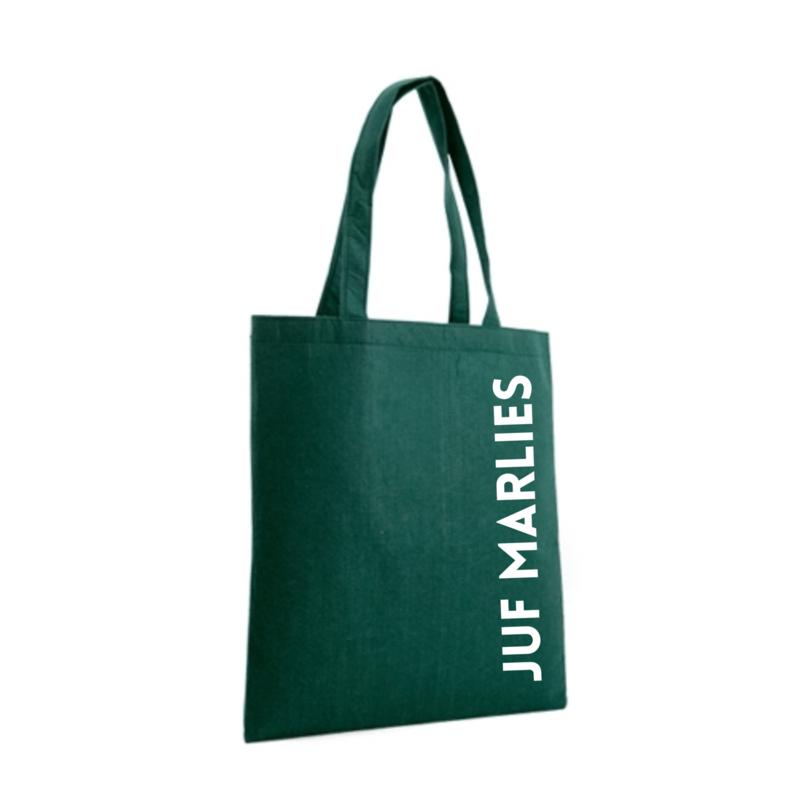 Tas met naam   vilten tas plat