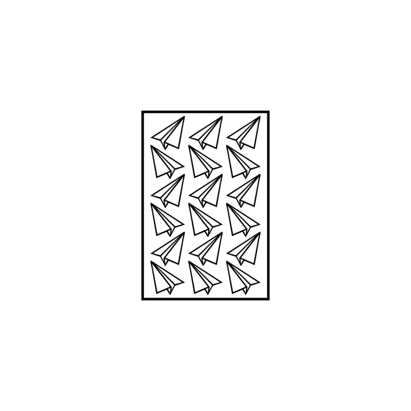 Figuurtjes | 'papieren' vliegtuigjes (2 cm)