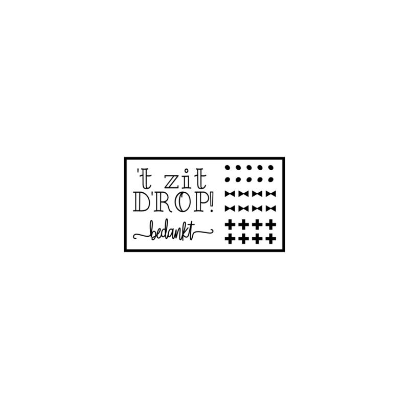 't zit D'ROP - meester - DIY sticker