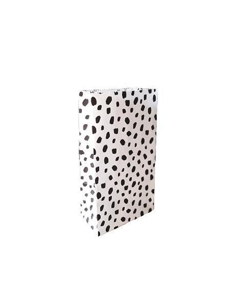 Papieren zak dots - maat S | blokbodemzak