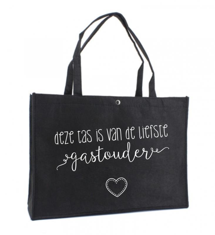 Deze tas is van de liefste gastouder | vilten tas