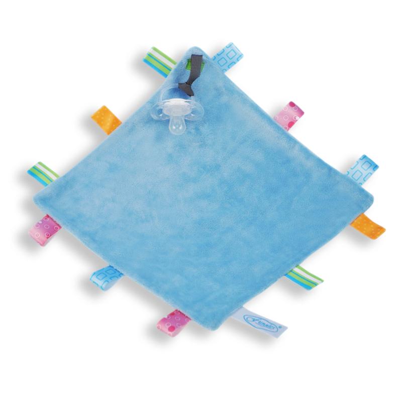 Labeldoekje vierkant blauw