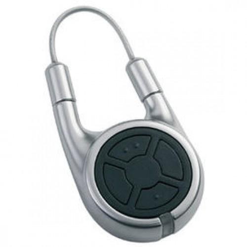 HSD-2-A-BS, 2-toetsen handzender sleutelhanger, aluminium