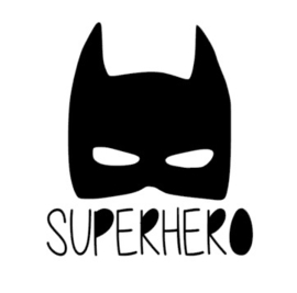 Superhero strijkapplicatie