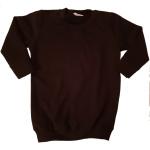 Black sweaterdress bedrukt naar wens