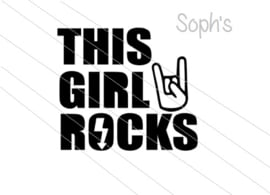 This girl rocks strijkapplicatie