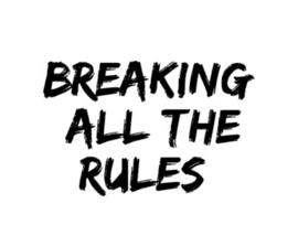 Breaking all the rules strijkapplicatie