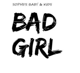 Bad girl strijkapplicatie