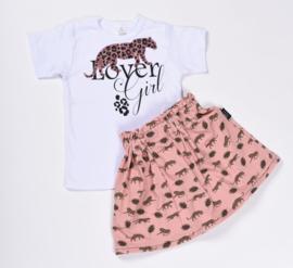 leopard pink skirt