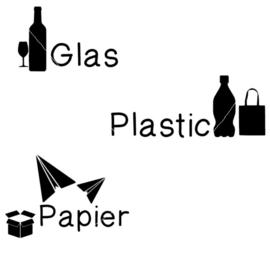 Afval scheidings stickers.