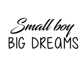 Small boy, big dreams strijkapplicatie