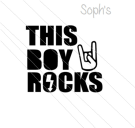 This boy rocks strijkapplicatie