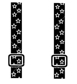 Bretels sterren strijkapplicatie
