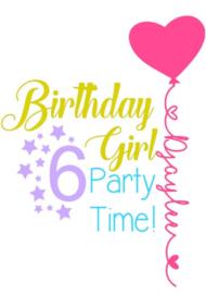 Birthday girl applicatie unicorn kleuren!