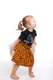 Paperbag Skirt panter oranje