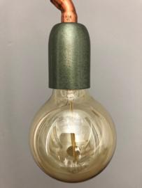 Strakke lamp van roodkoperbuis