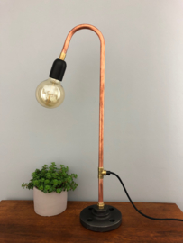 Koperen tafellamp
