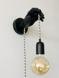 Wand-(hand) lamp Zwart