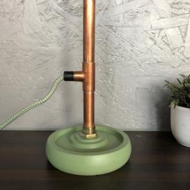 Elegante gebogen lamp.