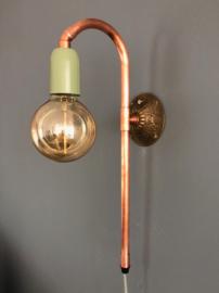 Leuk vintagelook wandlamp