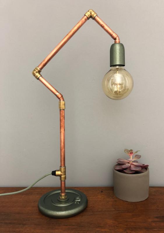 Mooie stoere industriele lamp