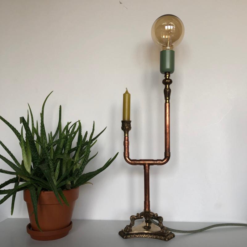 Brocante stoere lamp