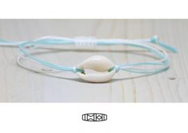 Vriendschapsbandje Kaurischelp seablue/white  #kauri