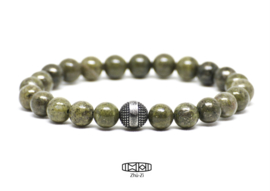 Kralenarmband Celtic green #pyrite