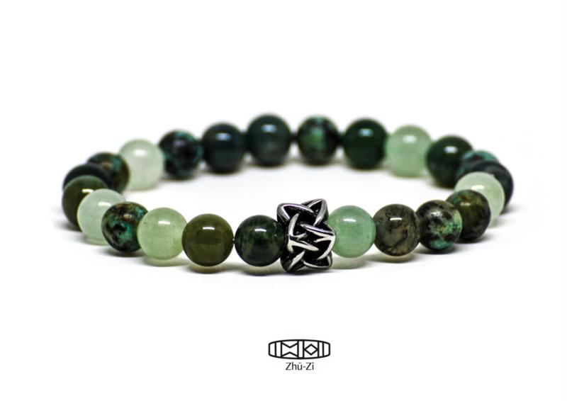 Kralenarmband Celtic  #africanturquoise #serpentine