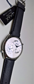 Collection Dual Time white silver (blue dial)