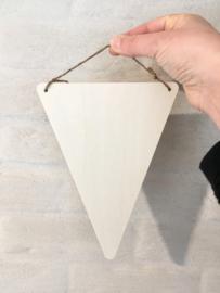 Houten vlagje driehoek