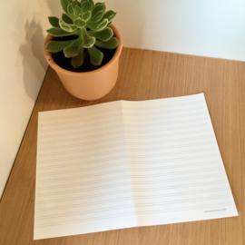 Inlegblaadje nieuwjaarsbrief