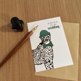 Wenskaart Wedding Luipaard