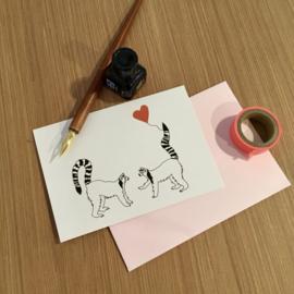 Wenskaart Maki Liefde