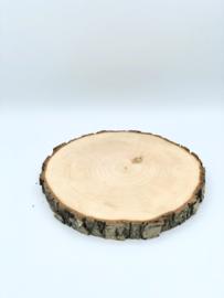 Natuurhouten schijf groot