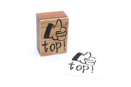 Stempel Top! met dikke duim