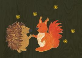Egel en eekhoorn